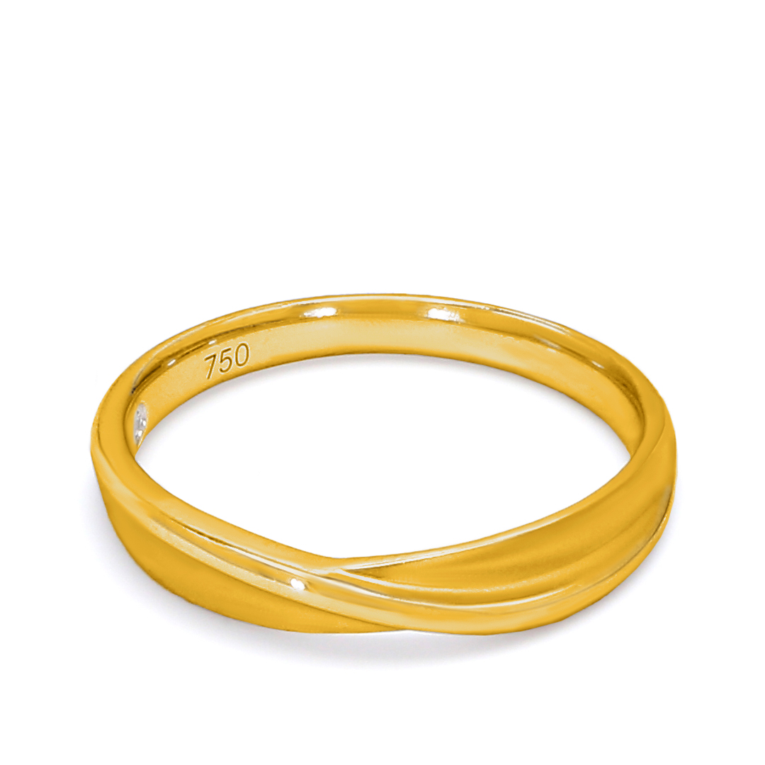 18K Yellow Gold Medusa Diamond Wedding Band