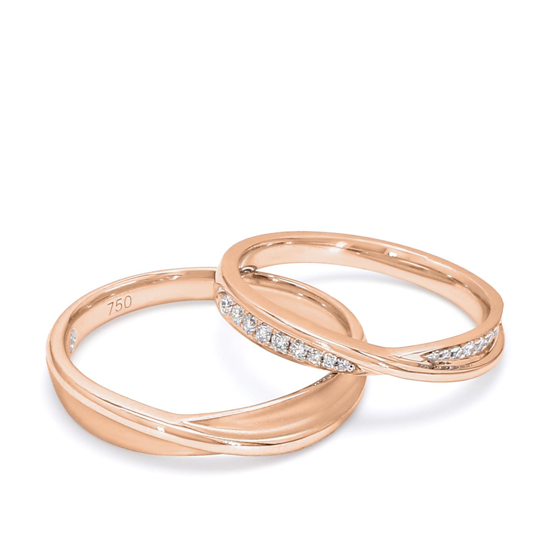 18K Rose Gold Medusa Diamond Wedding Band