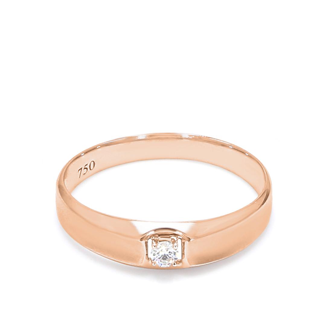 18K Rose Gold Sterling Diamond Women Wedding Band 18K White Gold