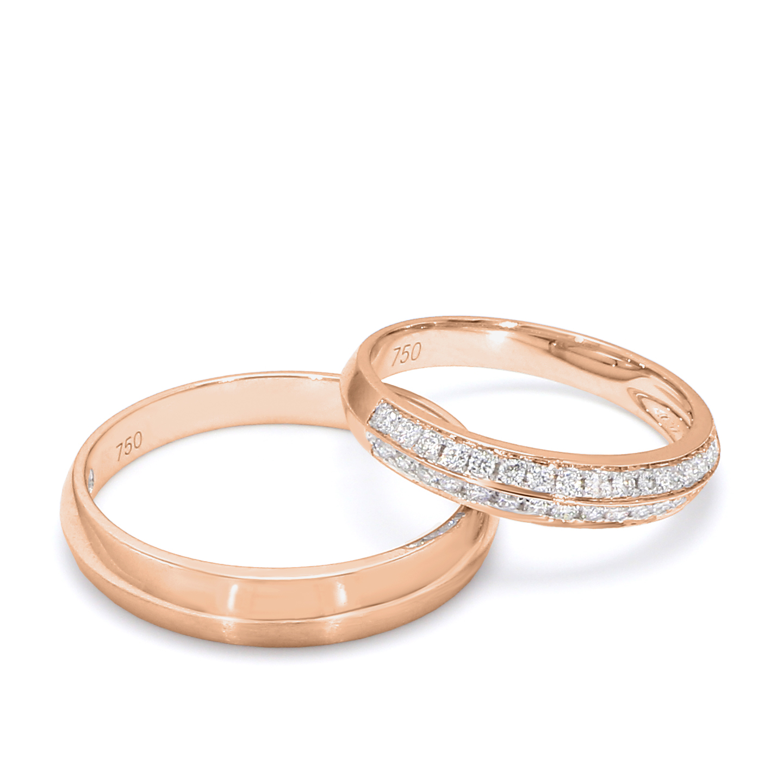 18K Rose Gold Ella Diamond Wedding Band