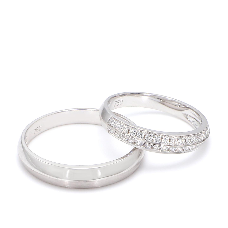 18K White Gold Ella Diamond Wedding Band