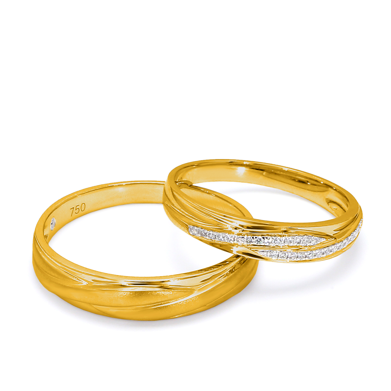 18K Yellow Gold Zoe Diamond Wedding Band