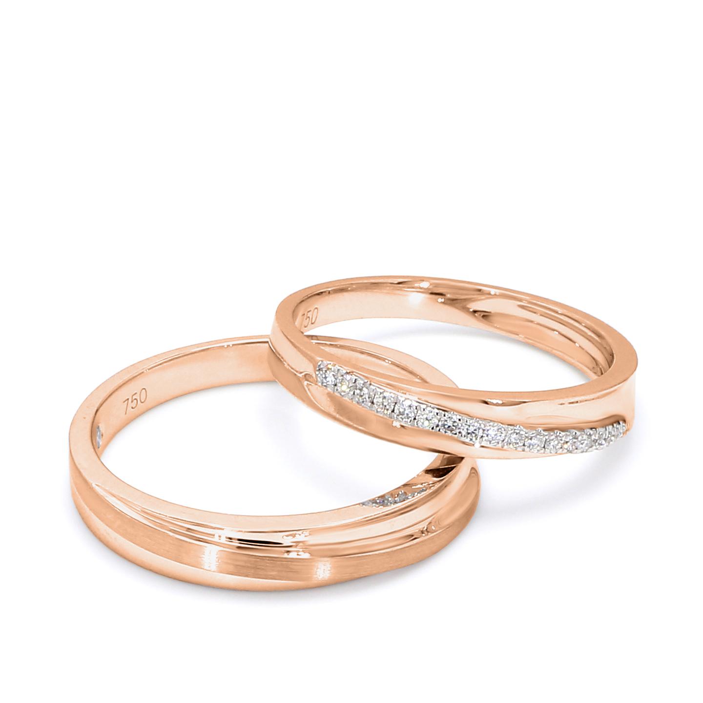 18K Rose Gold Claire Diamond Wedding Band