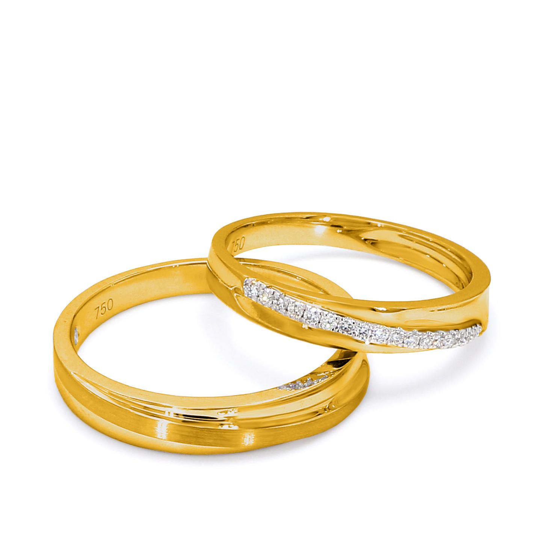 18K Yellow Gold Claire Diamond Wedding Band