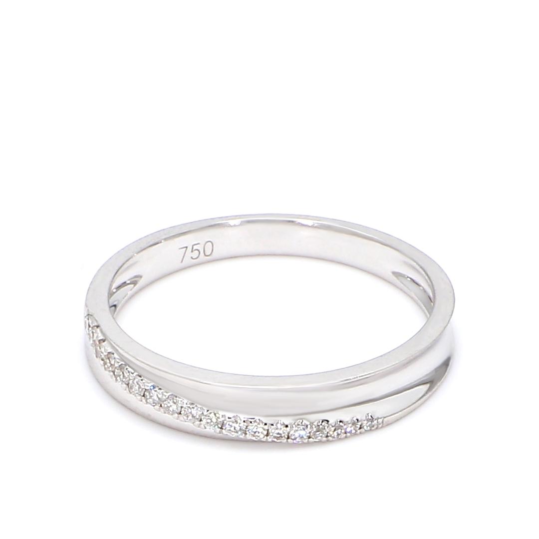 18K White Gold Claire Diamond Wedding Band