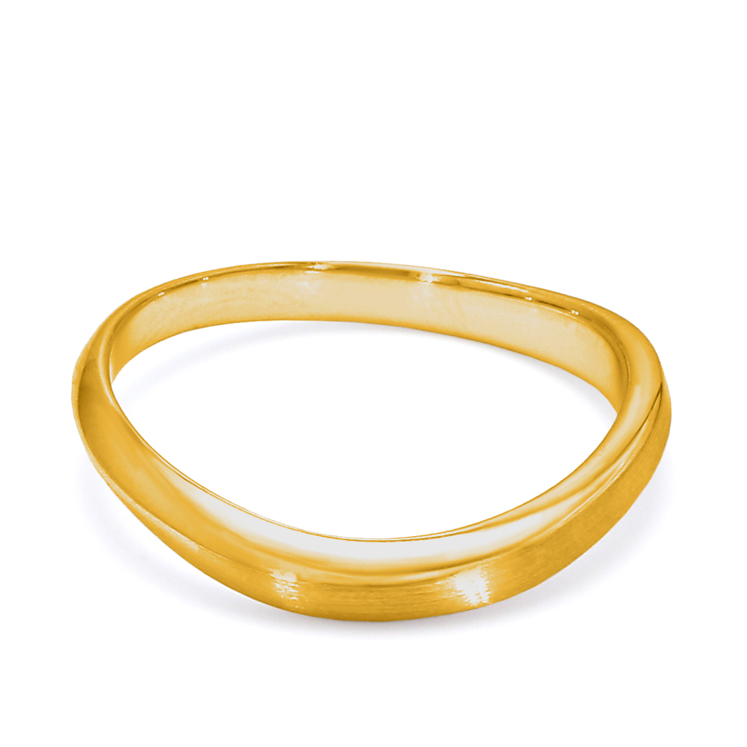 18K Yellow Gold Etoile Diamond Wedding Band