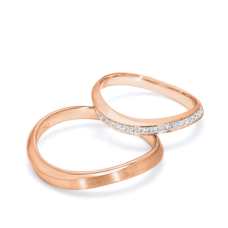 18K Rose Gold Etoile Diamond Wedding Band