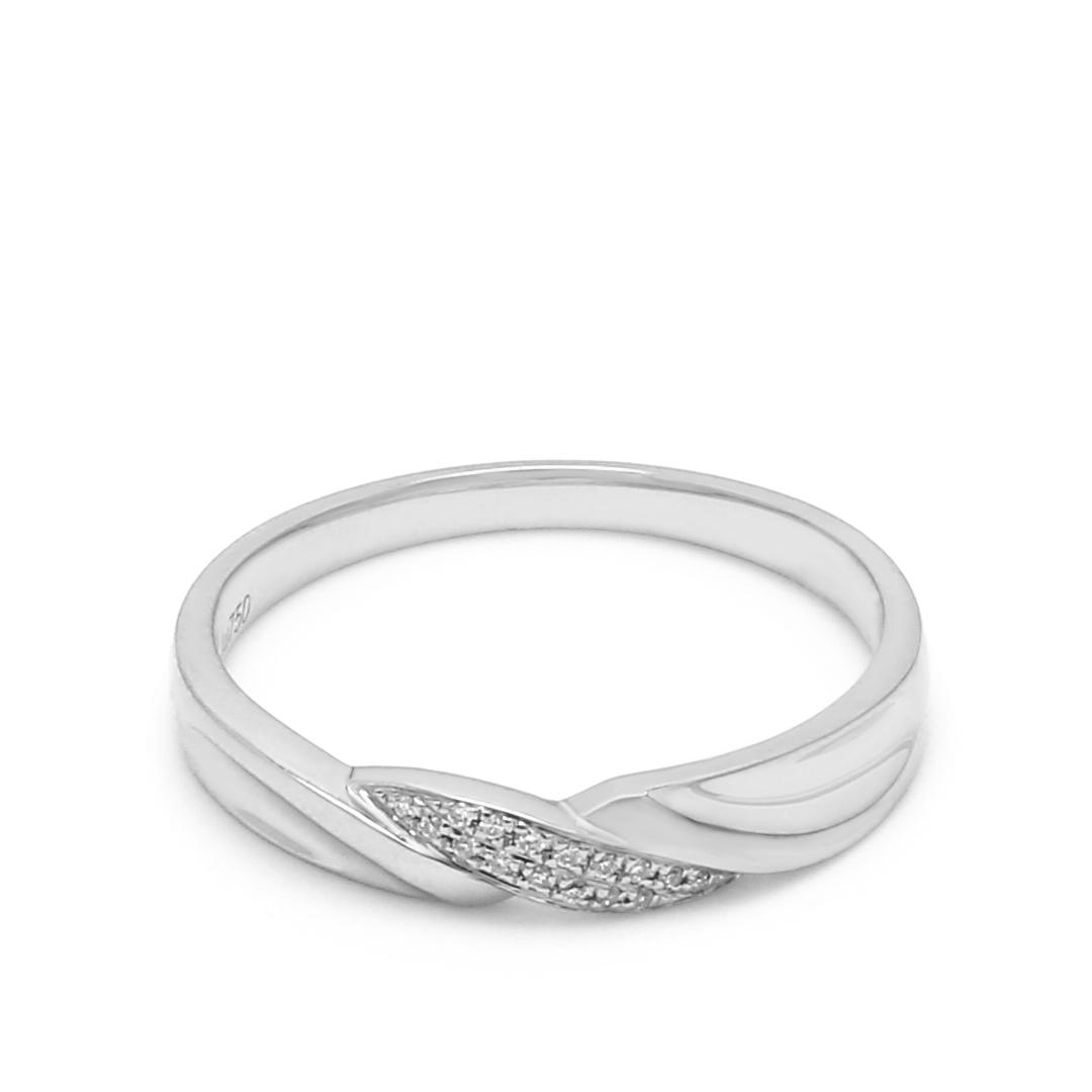 18K White Gold Shamyn Diamond Women Wedding Band