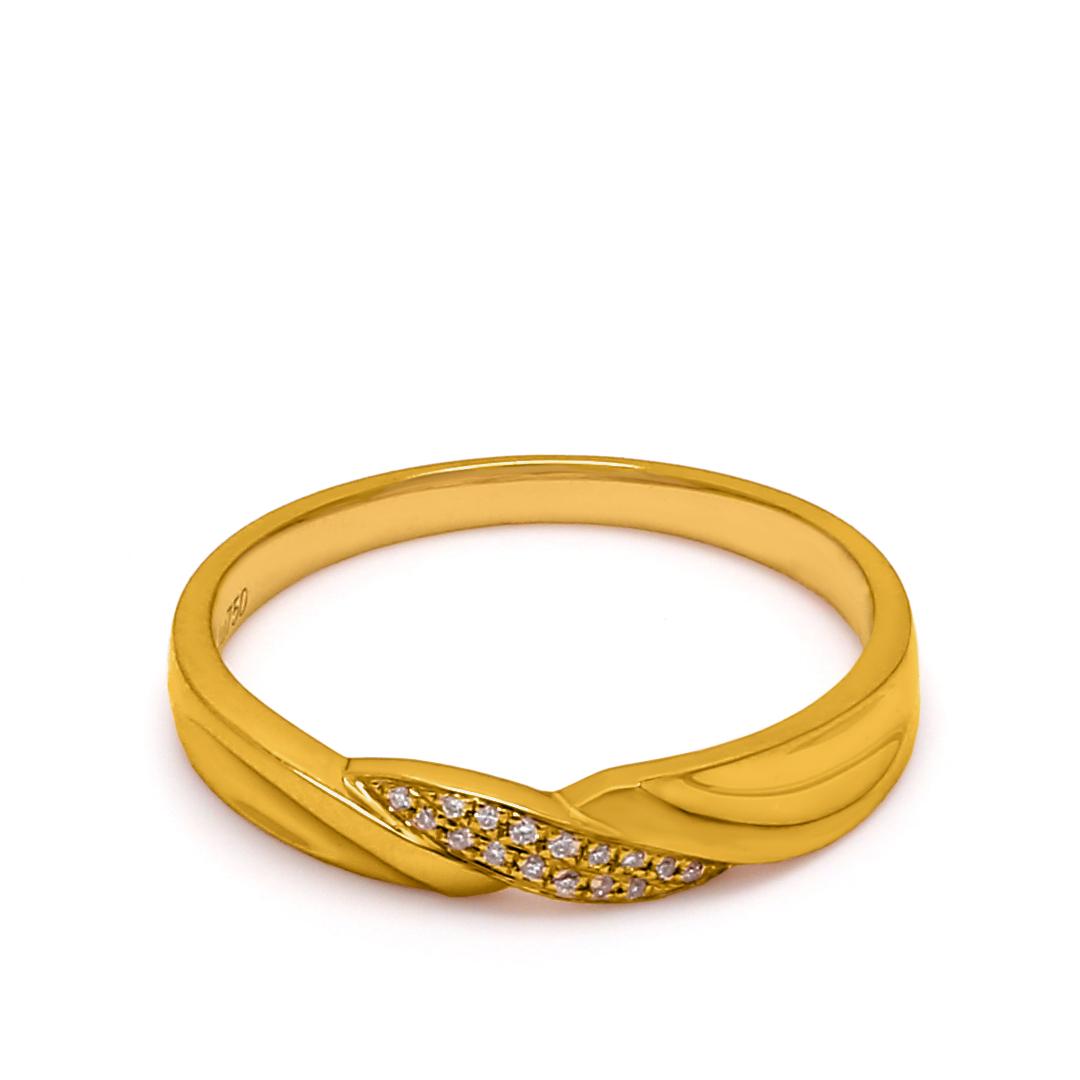 18K Yellow Gold Shamyn Diamond Women Wedding Band