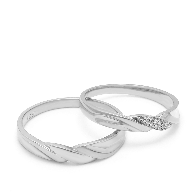 18K White Gold Shamyn Diamond Wedding Band