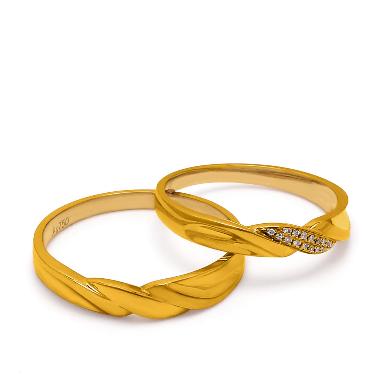 18K Yellow Gold Shamyn Diamond Wedding Band