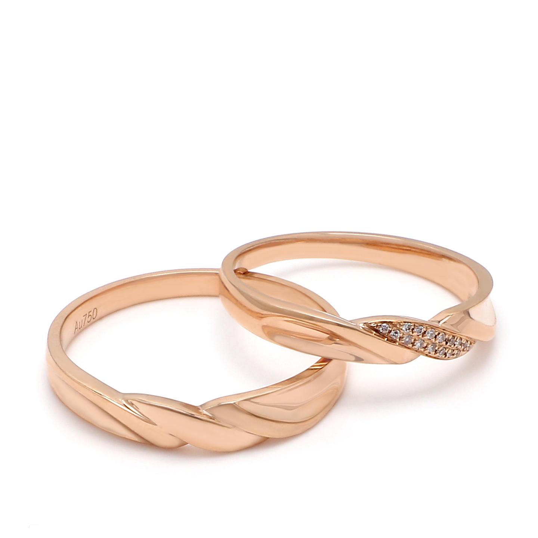 18K Rose Gold Shamyn Diamond Wedding Band
