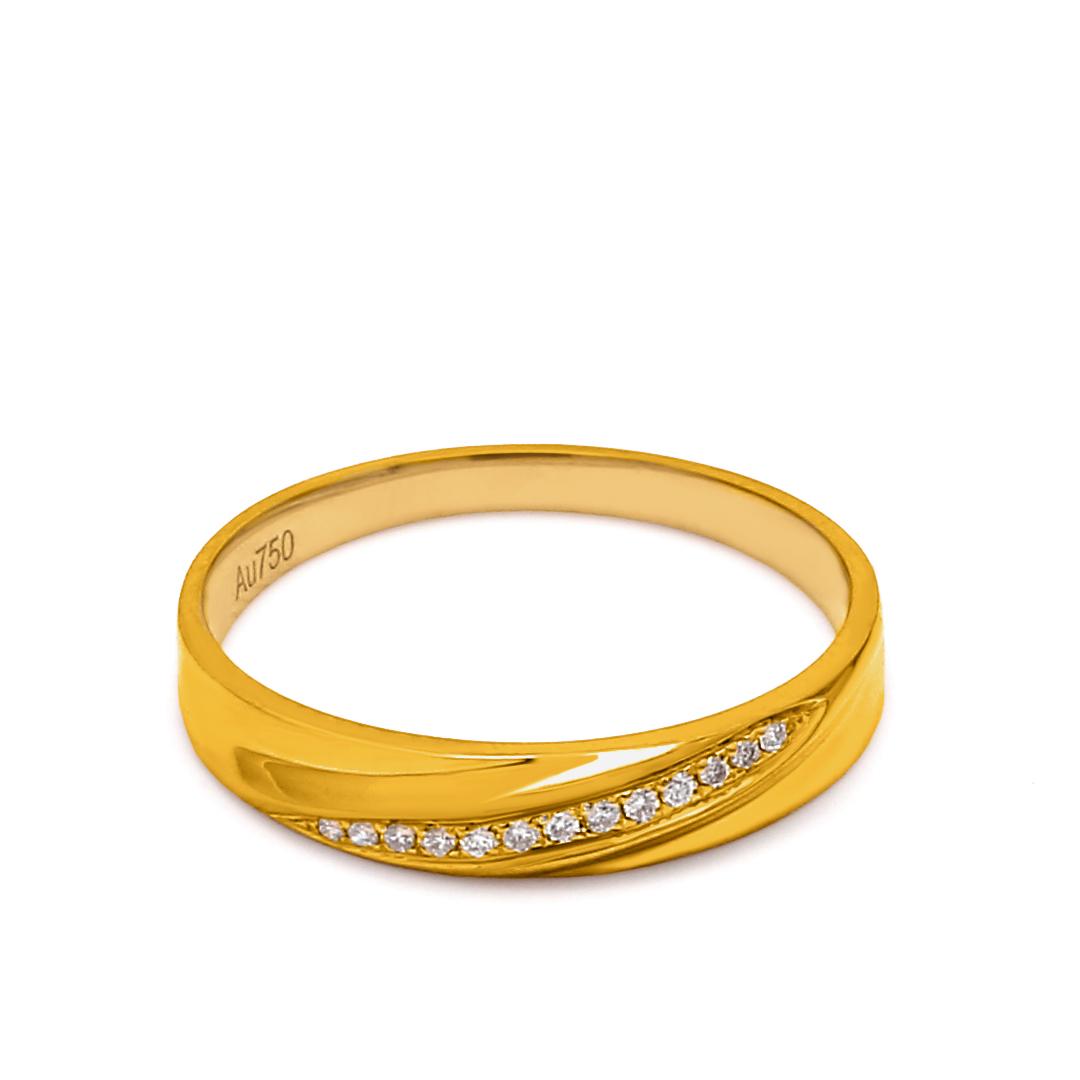 18K Yellow Gold Elena Diamond Wedding Band