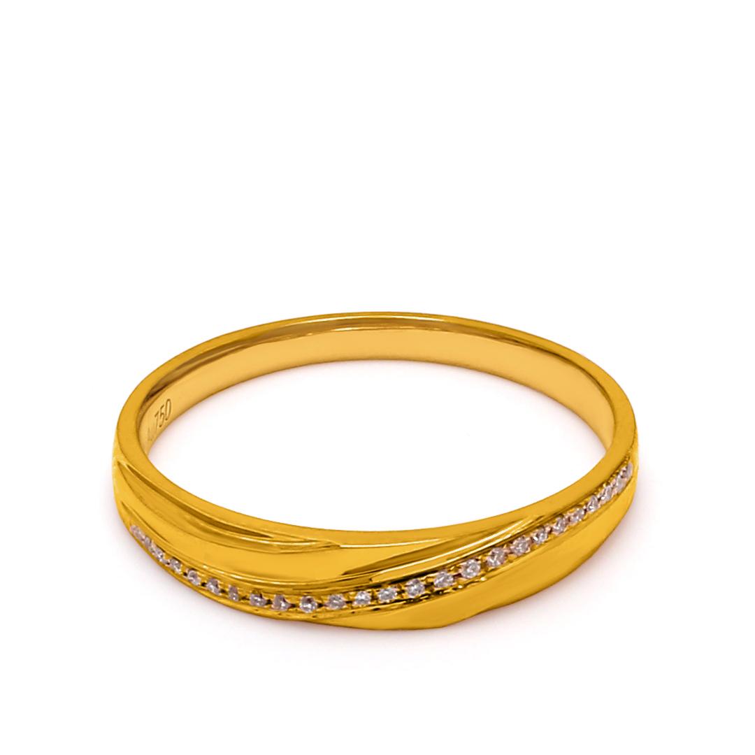 18K Yellow Gold Pandora Diamond Women Wedding Band