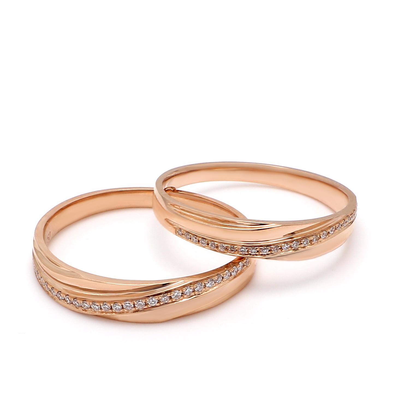 18K Rose Gold Pandora Diamond Wedding Band