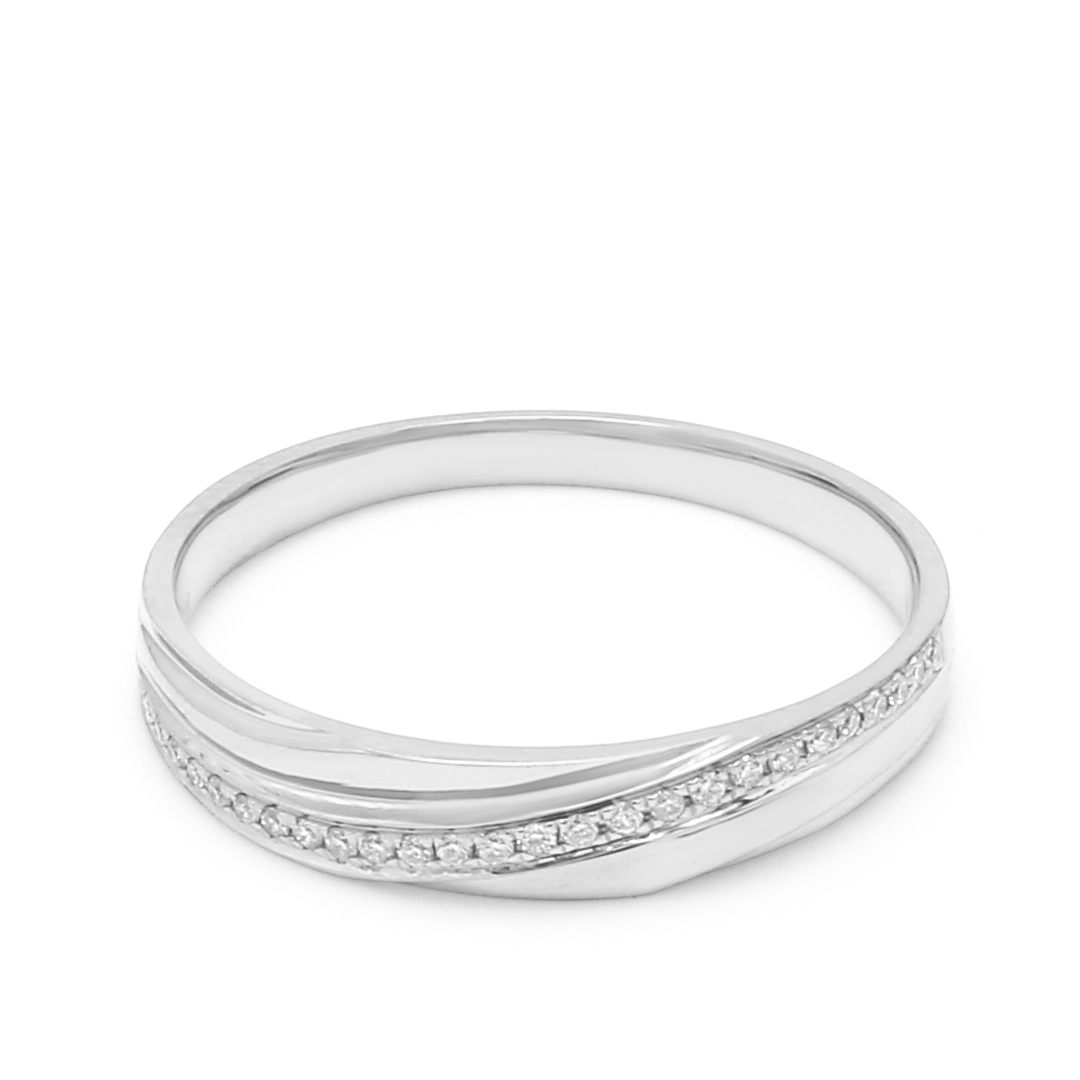 18K White Gold Pandora Diamond Wedding Band