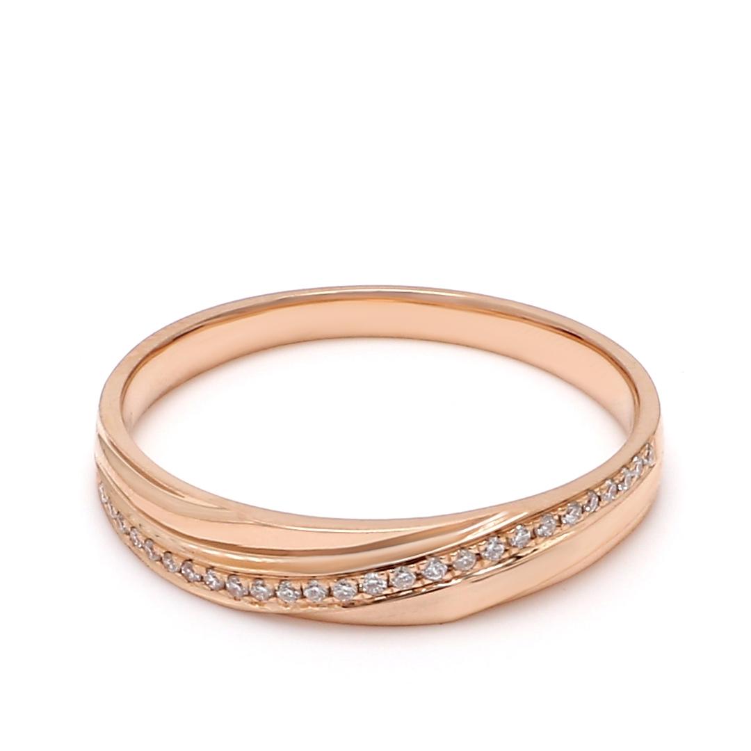 18K Rose Gold Pandora Diamond Men Wedding Band