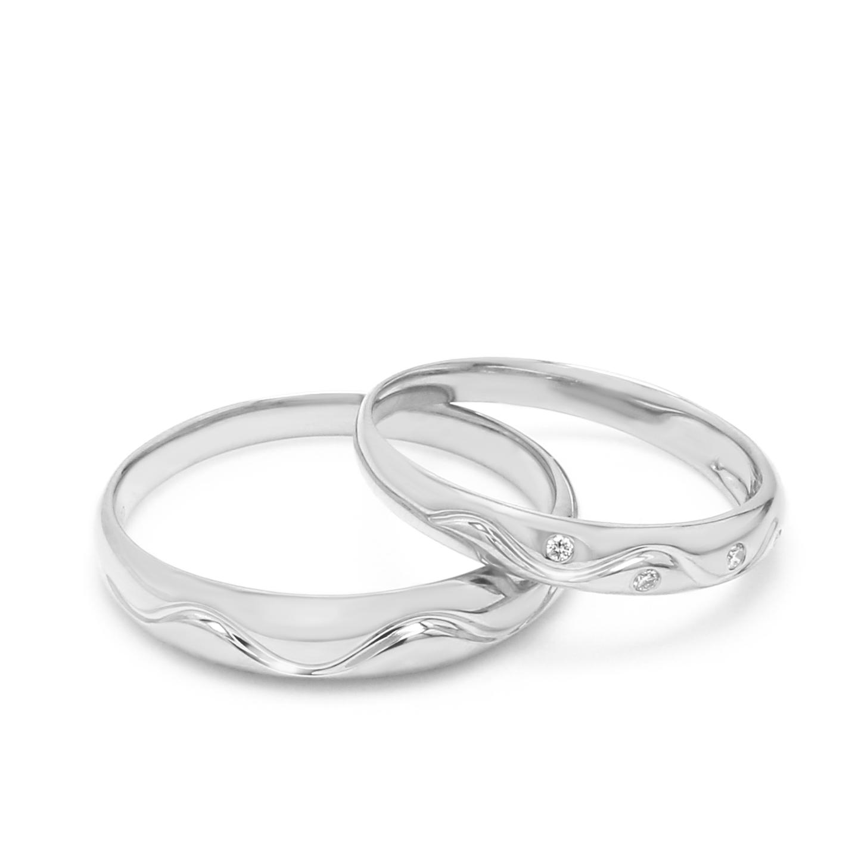 18K White Gold Ava Diamond Wedding Band
