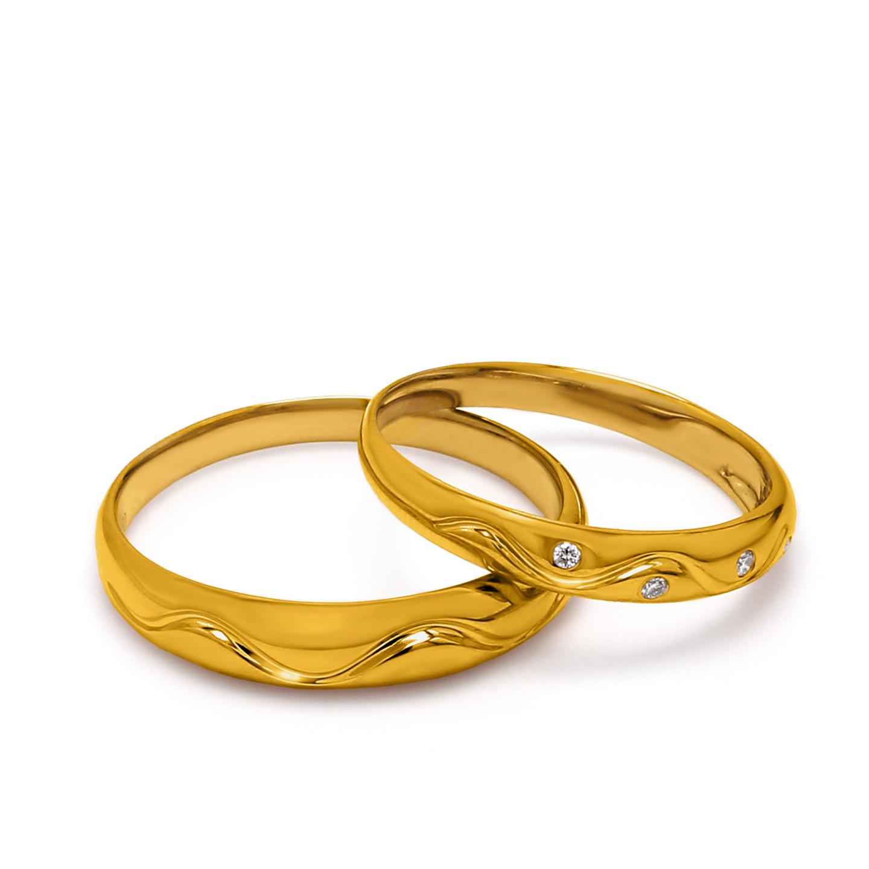 18K Yellow Gold Ava Diamond Wedding Band