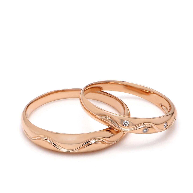 18K Rose Gold Ava Diamond Wedding Band