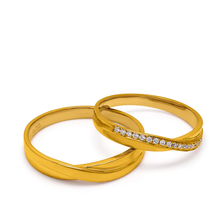 18K Yellow Gold Stella Diamond Wedding Band