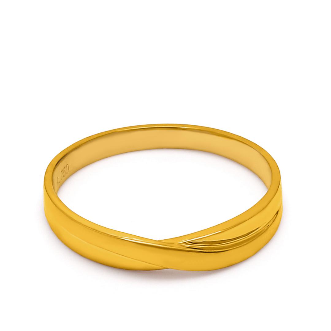 18K Yellow Gold Stella Diamond Men Wedding Band