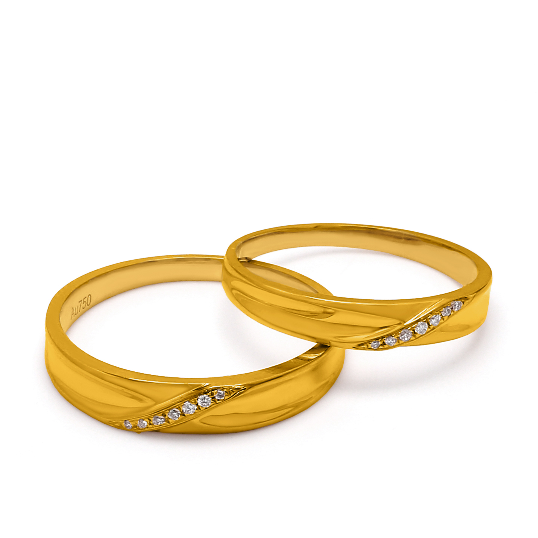 18K Yellow Gold Hera Diamond Wedding Band