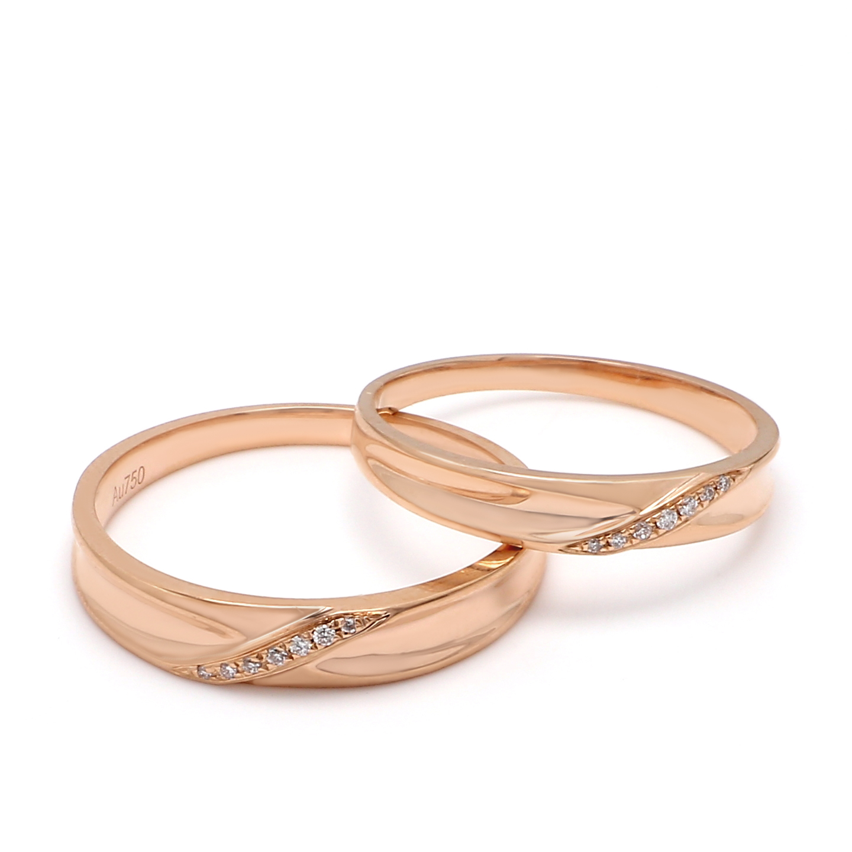 18K Rose Gold Hera Diamond Wedding Band
