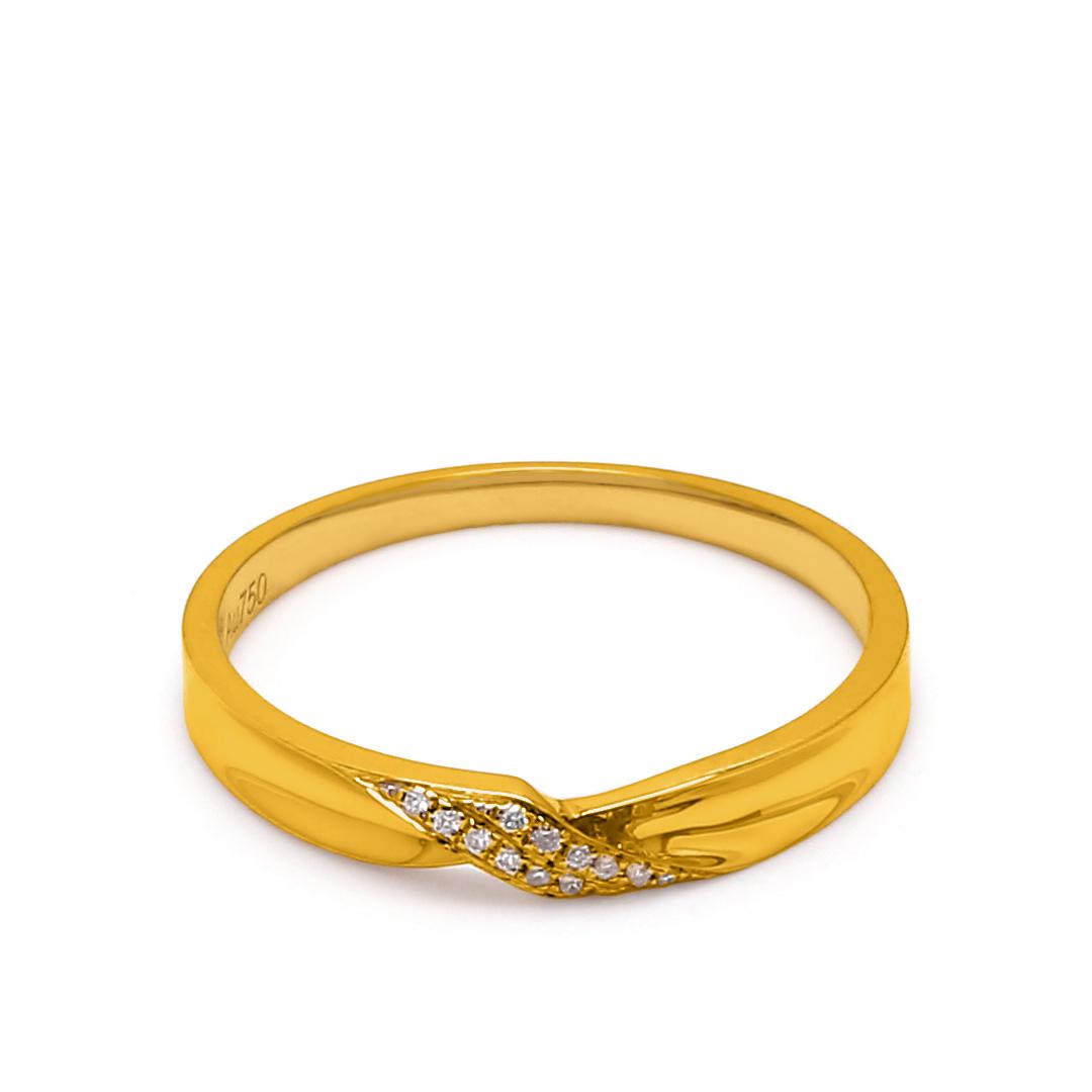 18K Yellow Gold Charlotte Diamond Wedding Band