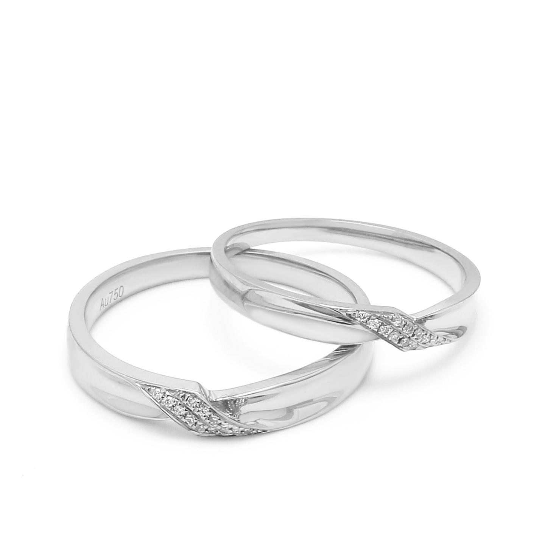 18K White Gold Charlotte Diamond Wedding Band