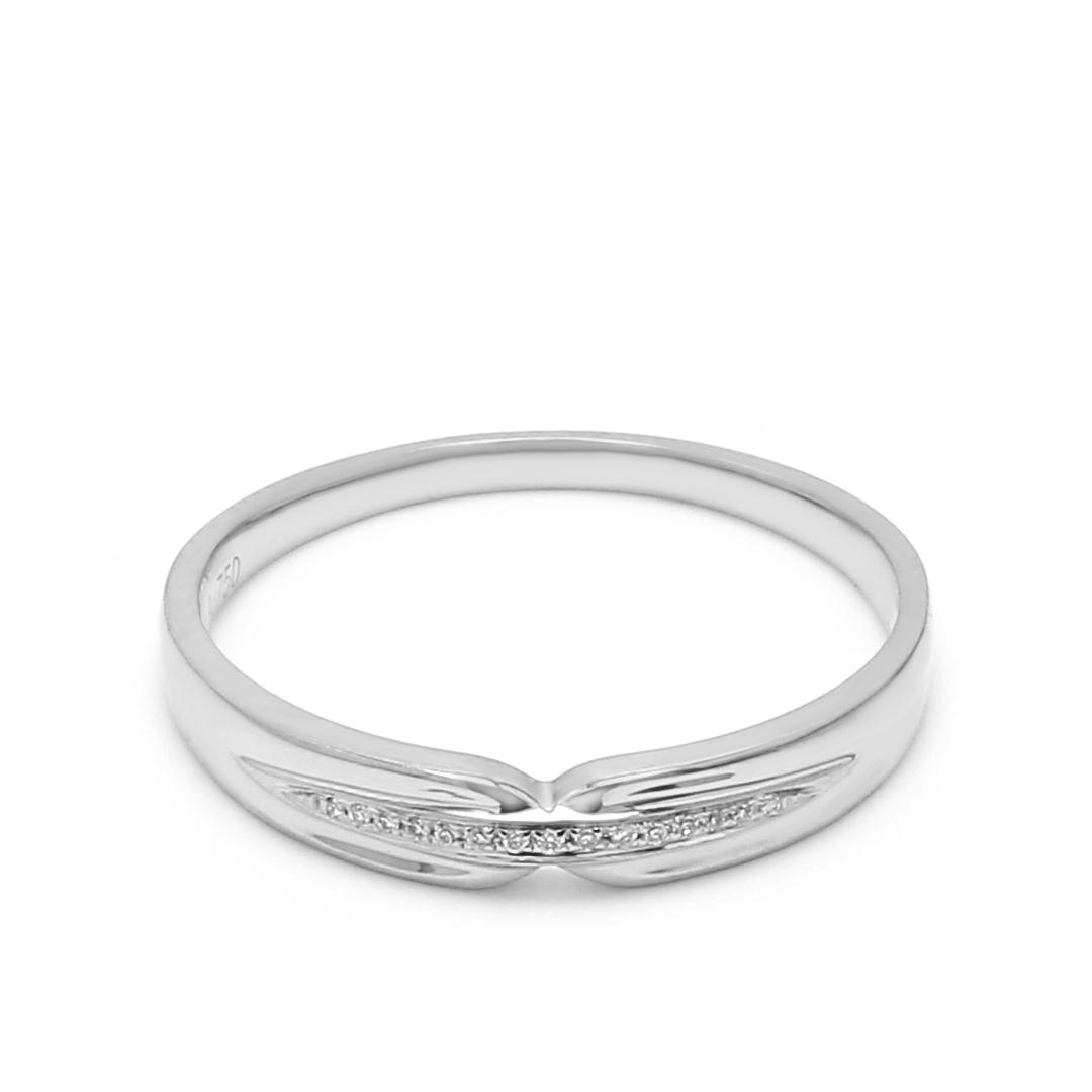 18K White Gold Thalia Diamond Women Wedding Band
