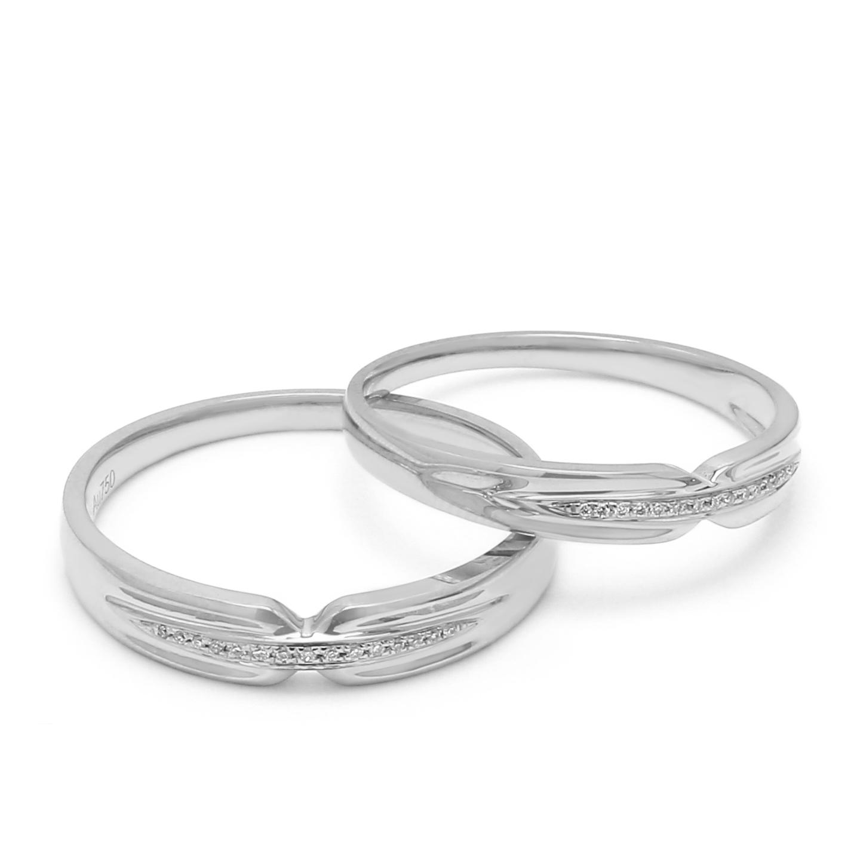 18K White Gold Thalia Diamond Wedding Band
