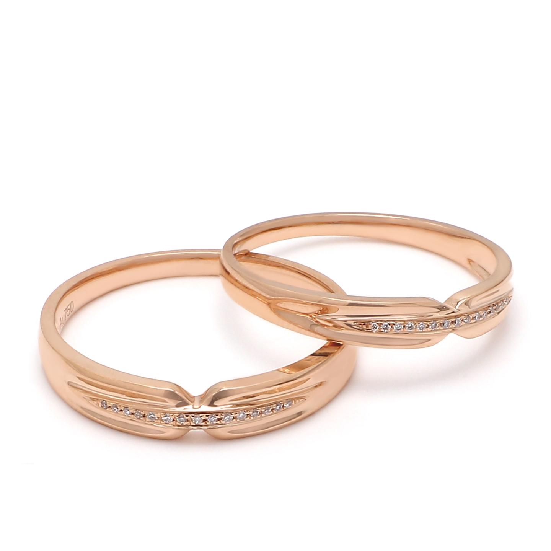 18K Rose Gold Thalia Diamond Wedding Band