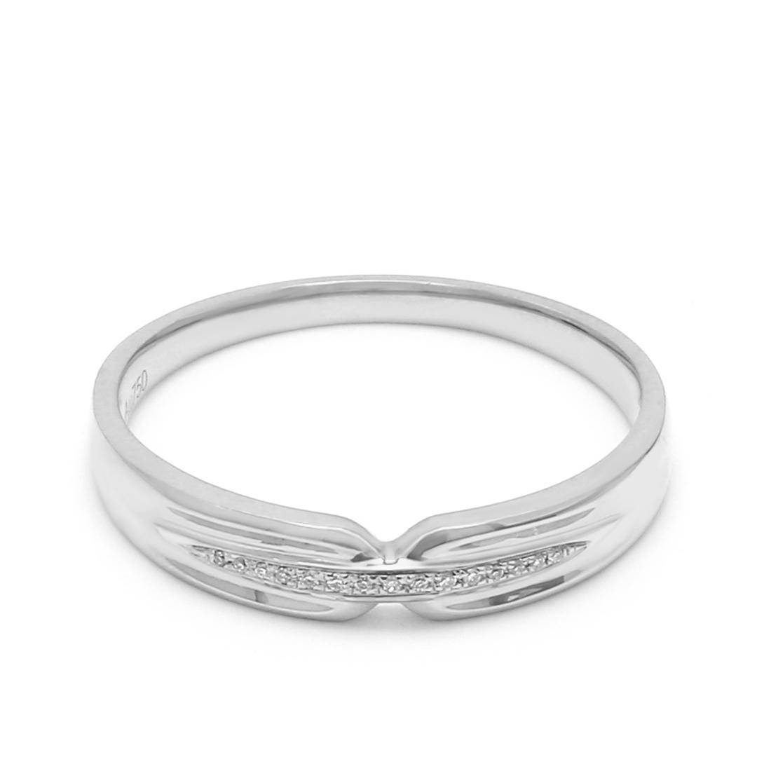 18K White Gold Thalia Diamond Men Wedding Band