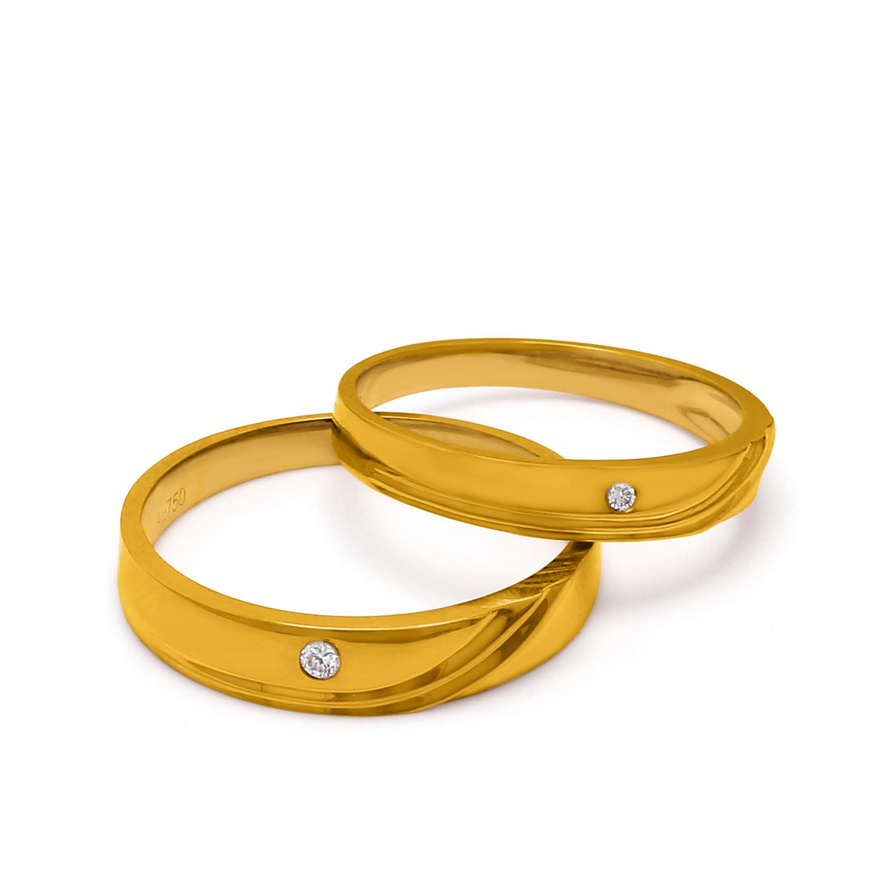 18K Yellow Gold Rio Diamond Wedding Band