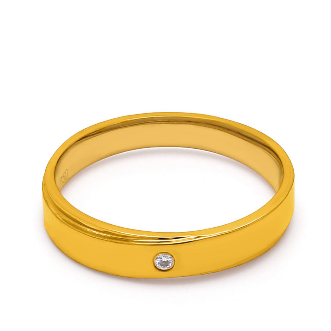 18K Yellow Gold Harmonia Diamond Men Wedding Band