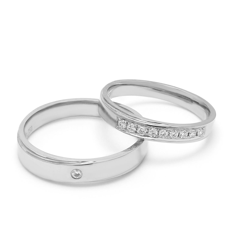 18K White Gold Harmonia Diamond Wedding Band