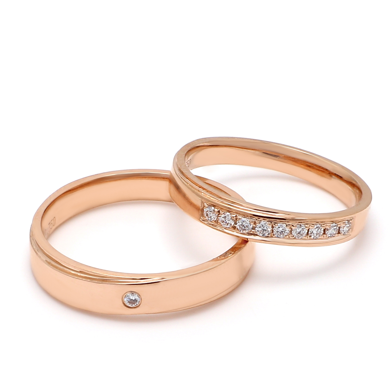 18K Rose Gold Harmonia Diamond Wedding Band
