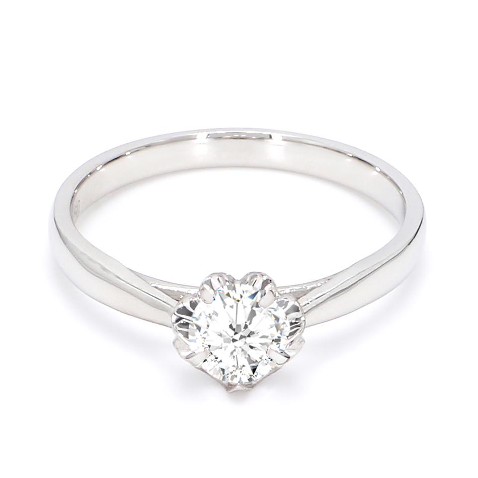 18K White Gold Chrysler Diamond Engagement Ring