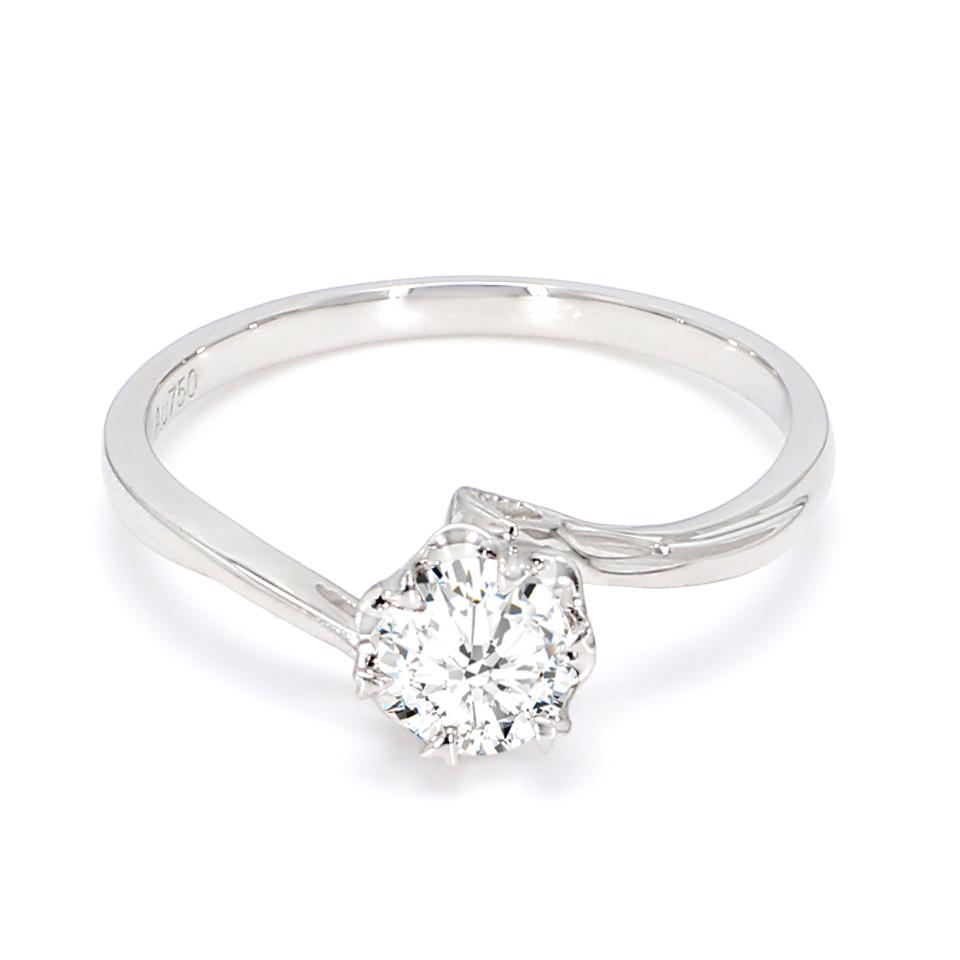 18K White Gold Perrier Diamond Engagement Ring
