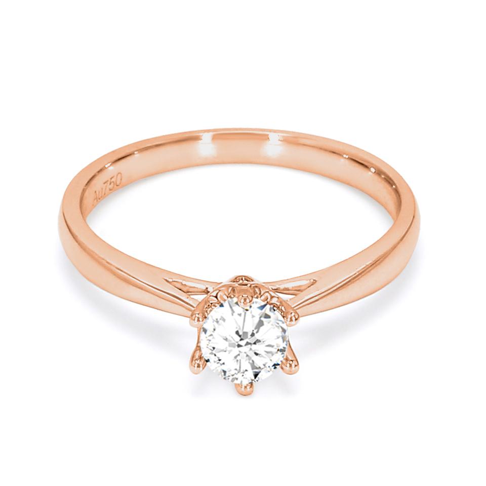 18K Rose Gold Elysium Diamond Engagement Ring