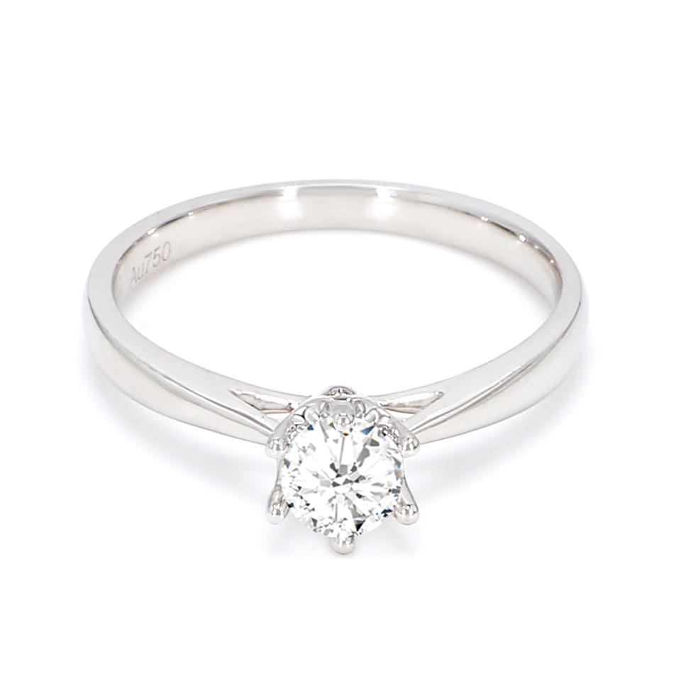 18K White Gold Elysium Diamond Engagement Ring