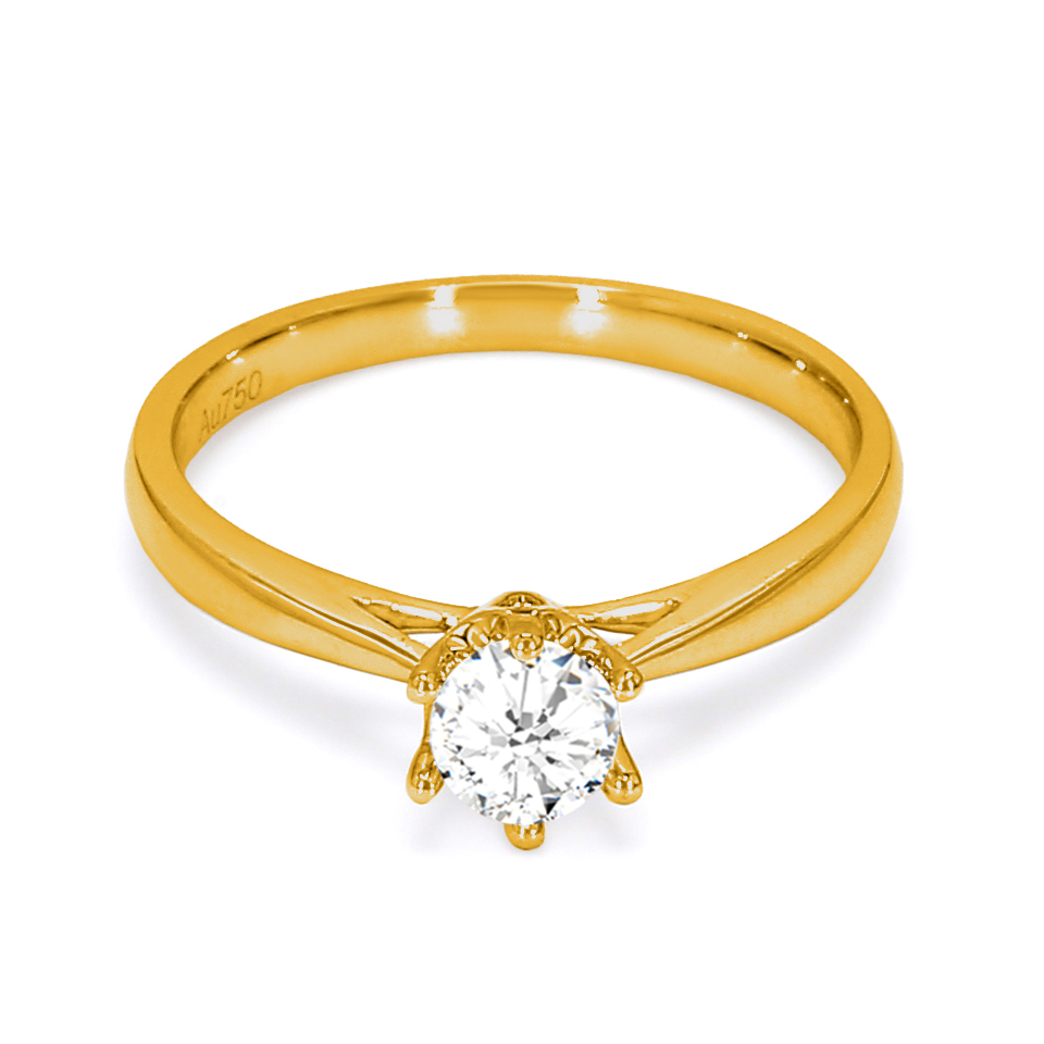 18K Yellow Gold Elysium Diamond Engagement Ring