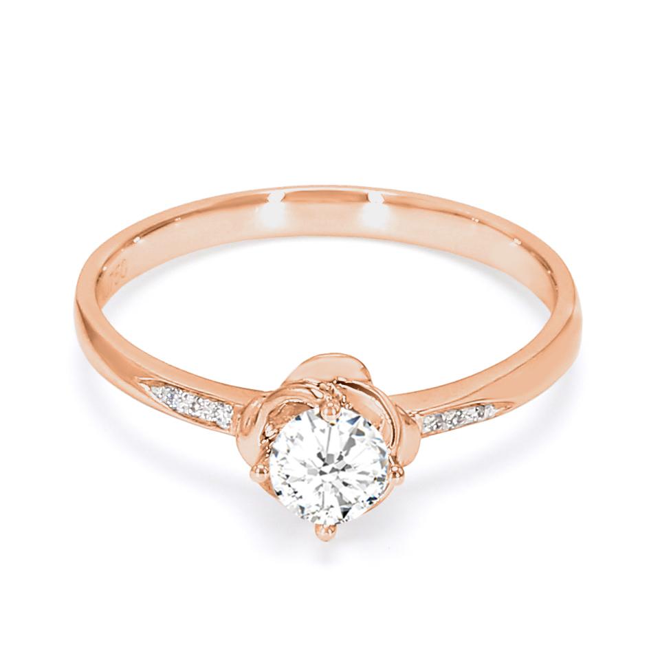 18K Rose Gold Sophia Diamond Engagement Ring