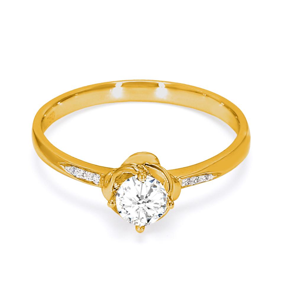 18K Yellow Gold Sophia Diamond Engagement Ring