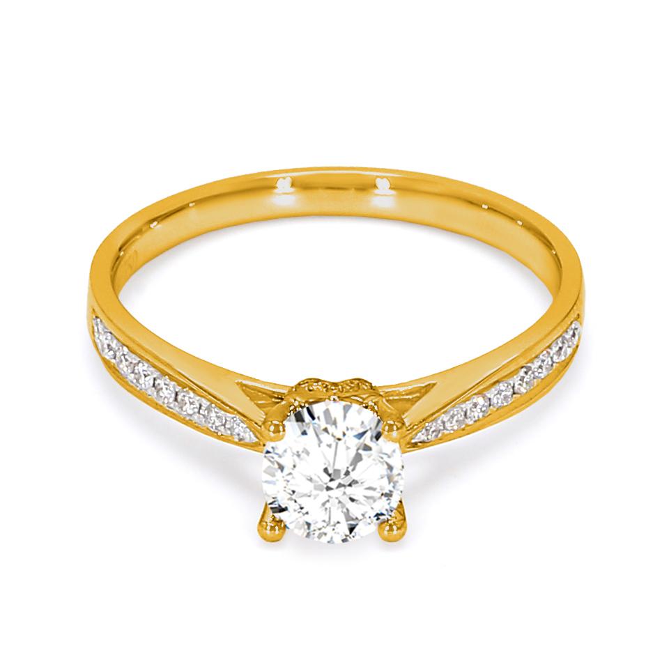 18K Yellow Gold Nyx Diamond Engagement Ring