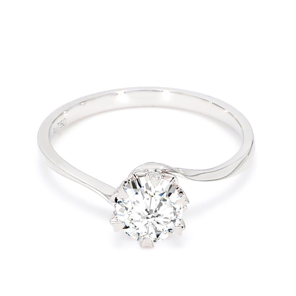 18K White Gold Hebe Diamond Engagement Ring