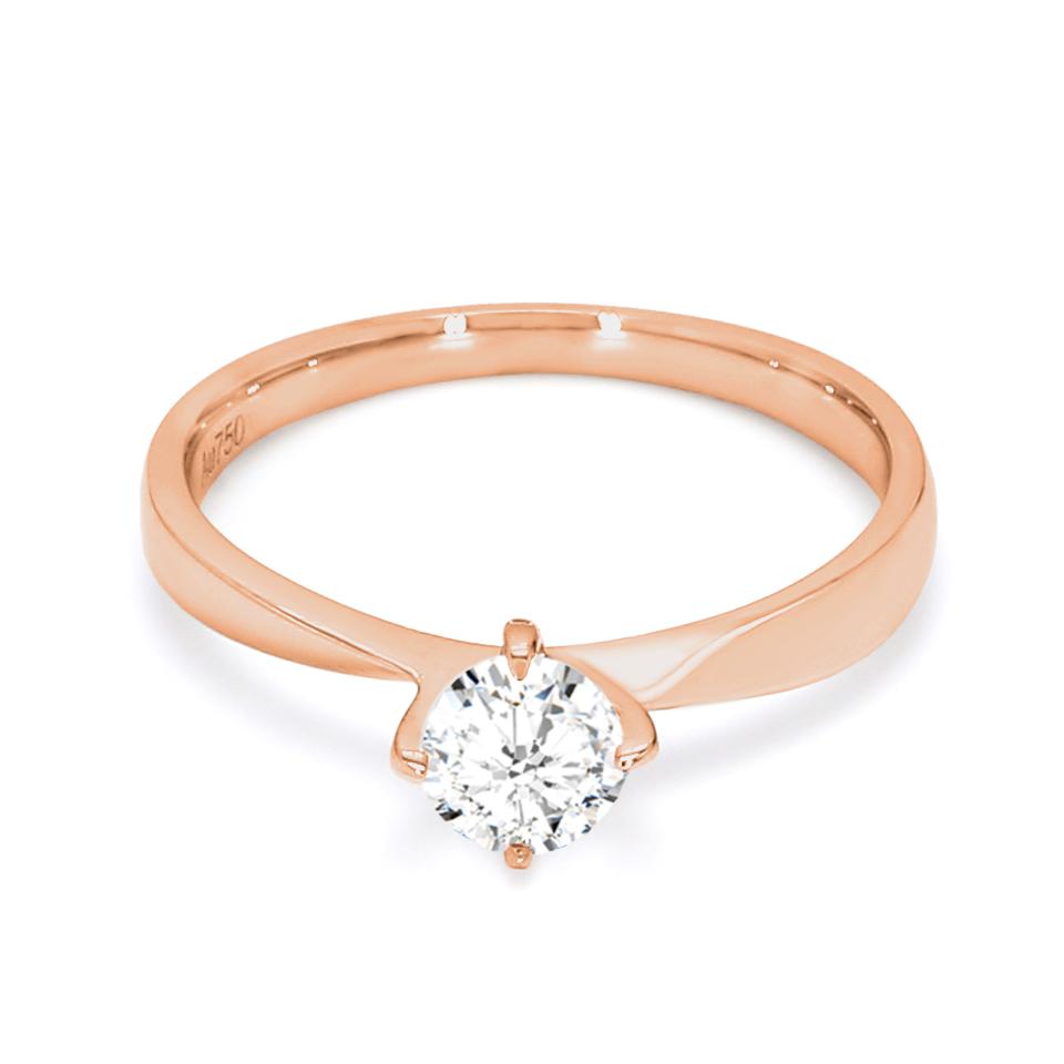 18K Rose Gold Iris Diamond Engagement Ring