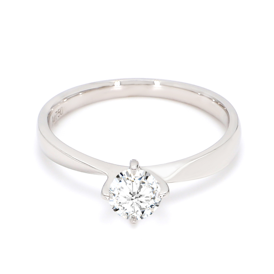 18K White Gold Iris Diamond Engagement Ring