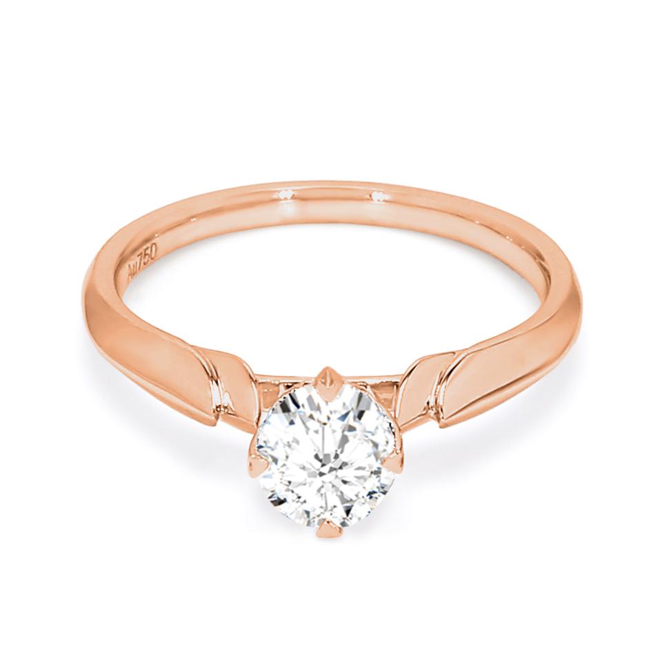 18K Rose Gold Terra Diamond Engagement Ring